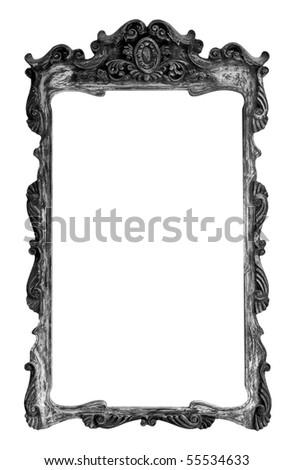 Old Thai style wood frame - stock photo