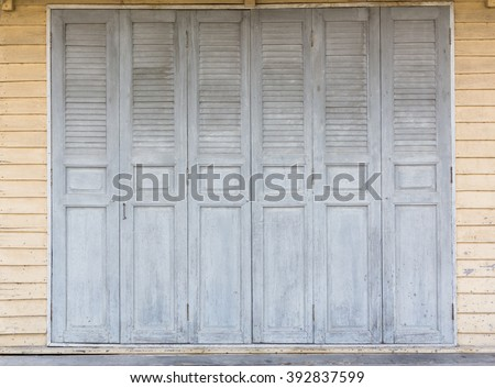 old Thai style wooden folding door sweet colour vintage door & thai Door\