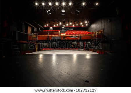 old theater, auditorium, stage  - stock photo