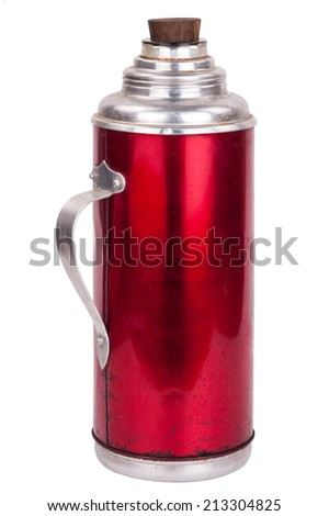Old thermos - stock photo