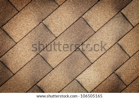 old tiles roof texture close-up - stock photo