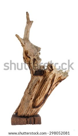 Old Timber, Old Wood isolate on white background.