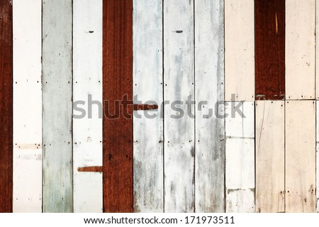 Old timber plank wall for textural background.  - stock photo
