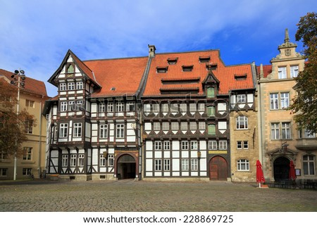 Old timbered houses in Braunschweig, Germany