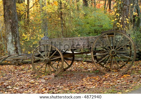 Old-Time Country Wagon in Autumn - stock photo
