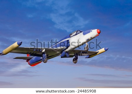 Old Time Jet Fighter - stock photo