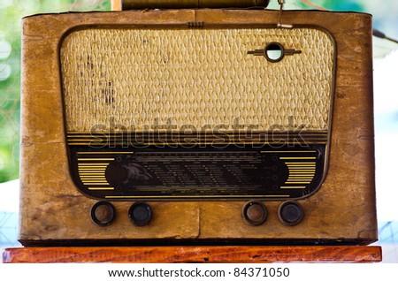 Old Time Radio - stock photo
