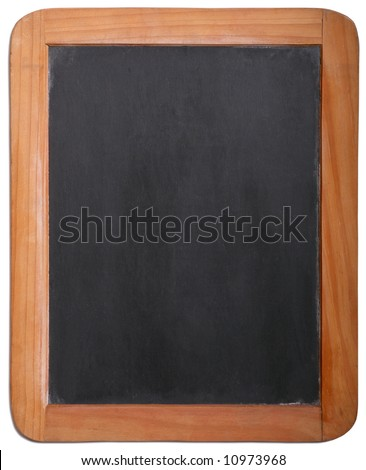 Old Time Slate Writing Tablet - stock photo