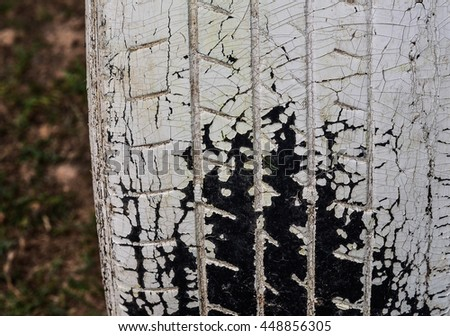 Old tires background Decorative Painting Outdoor toys for child development. - stock photo