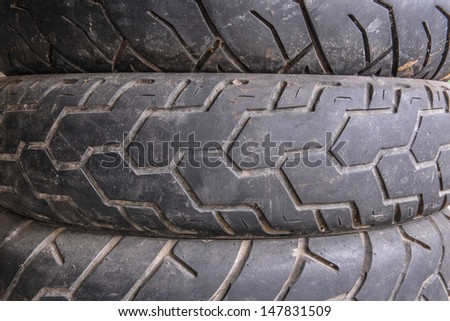 Old tires of car - stock photo