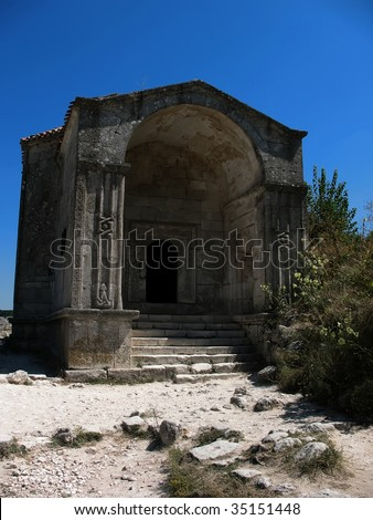 old tomb - stock photo