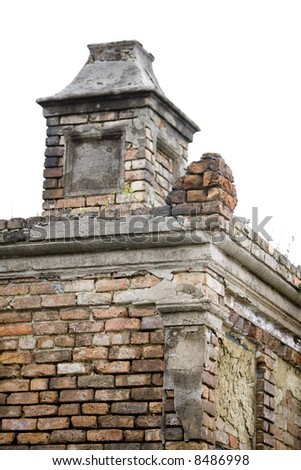 Old tomb in an historic New Orleans cemetary - stock photo