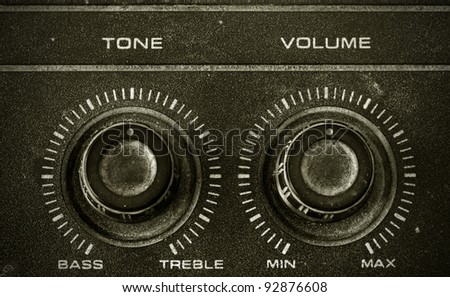 Old Tone and Volume button vintage style - stock photo