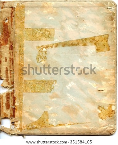 Old torn recipe book cover - stock photo