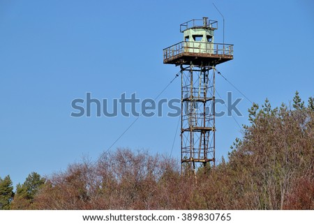 Old tower at the beach, Baltic Sea - stock photo