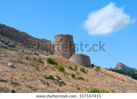 old tower in mountains