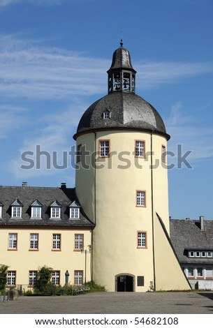 Old tower in the city of Siegen, North Rhine-Westphalia