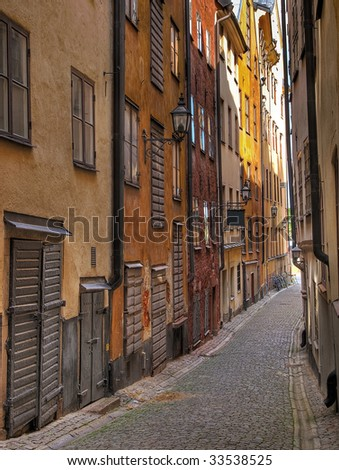 Old Town alley. - stock photo