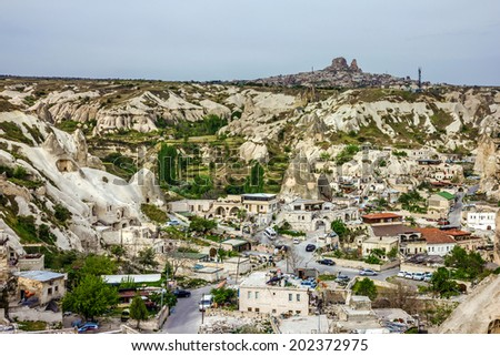 Old town Goreme, Cappadocia, Turkey - stock photo