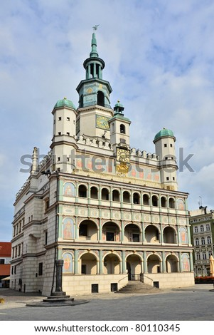 Old Town Hall in Poznan, Poland - stock photo