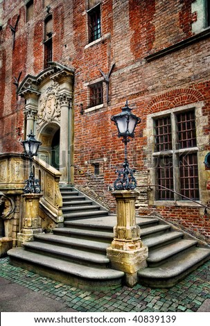 Old town hall stairs - Gdansk - Poland - enhanced