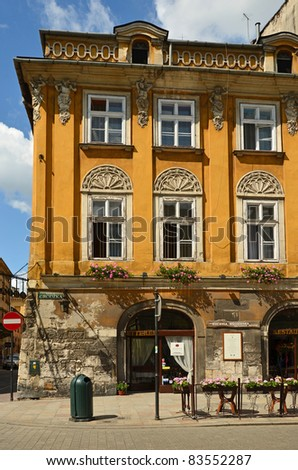 Old town house in Krakow - stock photo