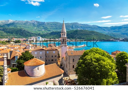 Old town in Budva in a beautiful summer day, Montenegro