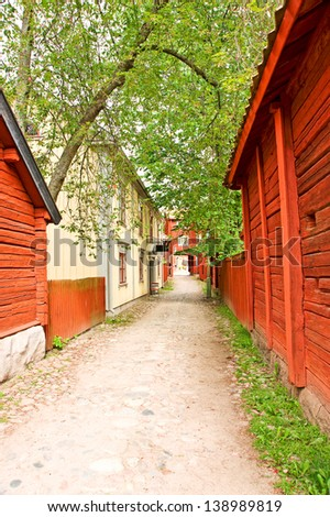Old town in Linkoping - stock photo
