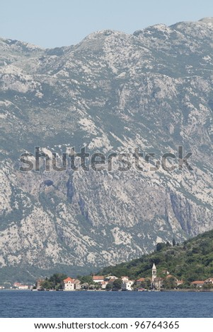 old town in Montenegro - stock photo