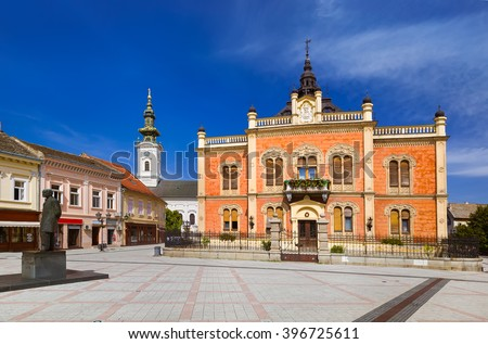 Old town in Novi Sad - Serbia - architecture travel background