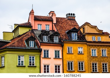 Old Town in Warsaw, Poland.  - stock photo