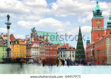 Old Town in Warsaw - the capital of Poland. - stock photo