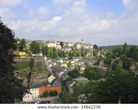 Old town Luxembourg city Luxembourg - stock photo