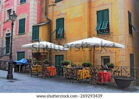 Old Town of Camogli - stock photo