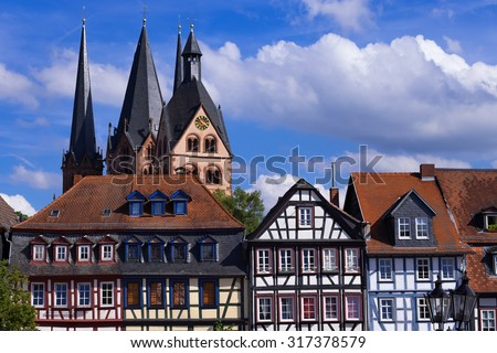 Old town of Gelnhausen/Germany - stock photo