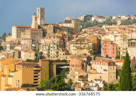 Old town of Grasse, town in Provence famous for its perfume industry, France