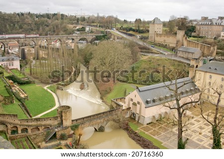 old town of Luxembourg in the heart of western Europe