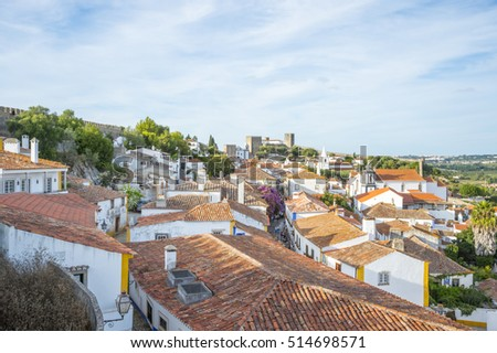 Old town of Obidos, Portugal