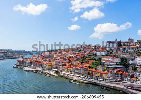 Old town of Porto and river Douro, Portugal  - stock photo