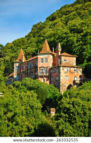 Old town of Sintra at sunny day, Portuga - stock photo