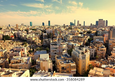 Old town of Tel Aviv (Israel)  - stock photo
