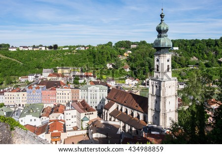old town of the famous village burghausen in germany - bavaria