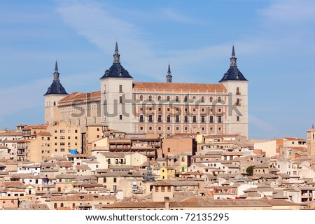 Old town of Toledo, former capital of Spain. - stock photo