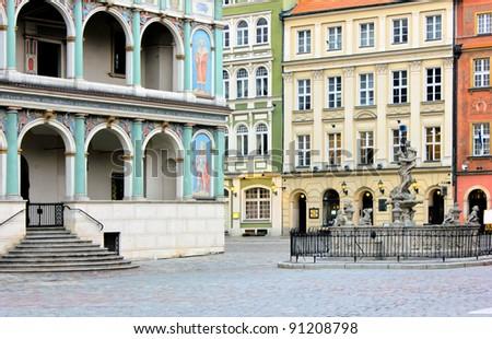 old town, Poznan, Poland - stock photo