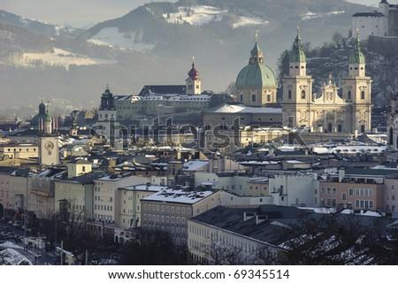 old town Salzburg in Austria, Europe - stock photo