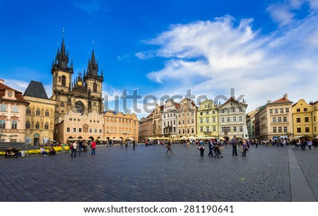 Old Town Square in Prague. Czech Republic - stock photo