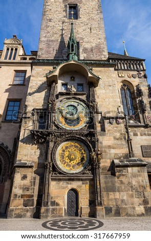 Old Town Square in Prague, Czech Republic - stock photo