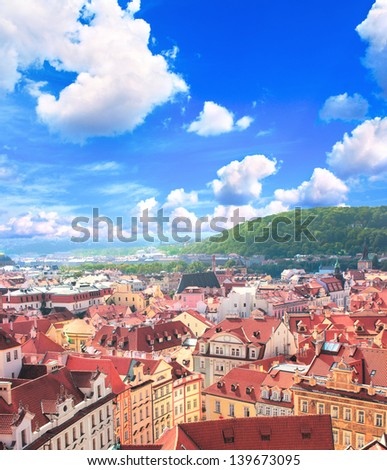 Old Town Square, Prague, Czech republic - stock photo