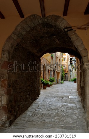 Old Town Street. - stock photo