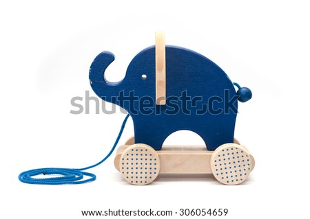 Old toy of wooden elephant